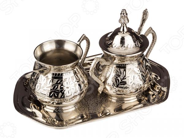 Набор для чая: сахарница и молочник на подставке 882-004