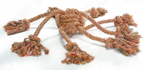 Игрушка для собак Beeztees «Клубок с канатиками» 641165 игрушка для собак beeztees i p t s рыбка цвет оранжевый
