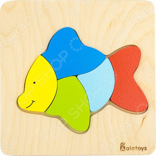 Пазл для малышей Alatoys «Рыбка» объемные пазл рыбка sw060
