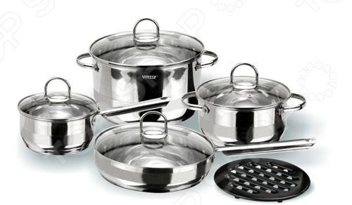 Набор кухонной посуды Vitesse Azura ролевые игры alex набор кухонной посуды из нержавеющей стали все для повара