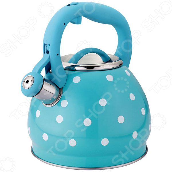 Чайник со свистком Agness «Горошек» чайник agness со свистком индукционное дно 3 л