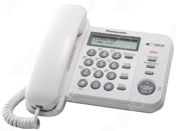 Телефон стационарный Panasonic KX TS 2356 RUW гибридная аналоговая атс panasonic kx tem824ru