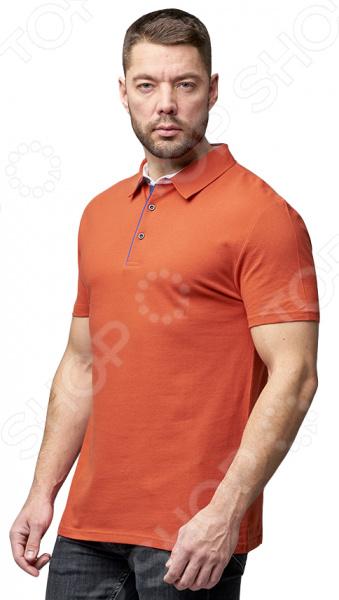 Футболка-поло мужская Milliner. Цвет: оранжевый