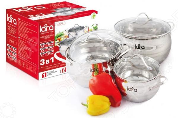 Набор посуды LARA Apple LR02-86 lara apple lr02 33