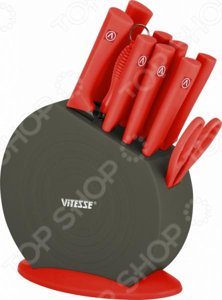 Набор ножей «Мастер-Шеф». Количество предметов: 11. Цвет: красный