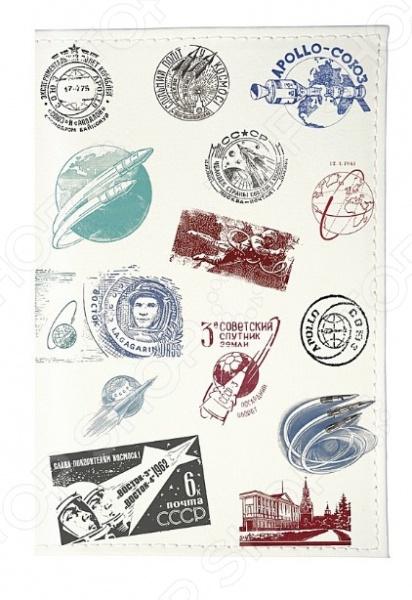 Обложка для паспорта кожаная Mitya Veselkov «Штампики о космосе» 49s 4 9152m 4 9152mhz hc 49s dip 2 hc 49s