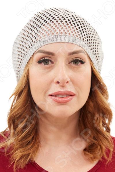 Берет LORICCI Зефирка удобный головной убор, который подойдет женщинам любого возраста. Создавайте невероятные образы каждый день с помощью этого замечательного аксессуара. Прекрасно сочетается с весенней и осенней одеждой.  Вязанный берет из натуральной хлопковой пряжи.  Сетчатая вязка придает изделию легкость.  Не имеет подкладки. Берет изготовлен из пряжи, состоящей на 100 из хлопка. Рекомендуется бережная ручная стирка, глажка не требуется.