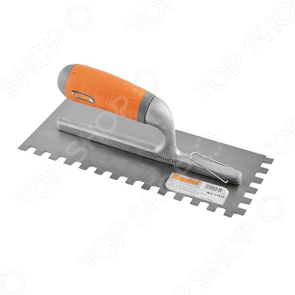 Гладилка KAPRIOL 23016 зубчатая  kapriol 50 см 23215 шпатель для финишных работ с ручкой progrip