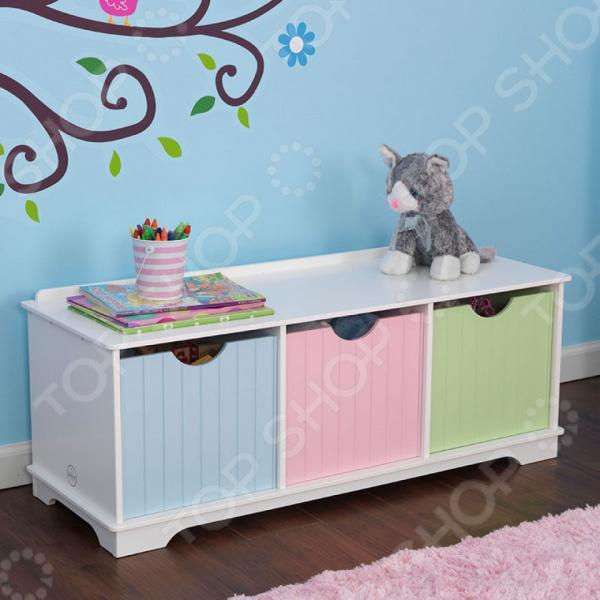 Скамья с ящиками KidKraft Storage Bench Pastel 3