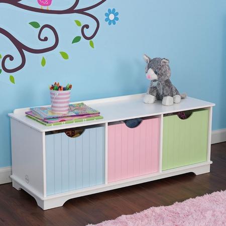 Купить Скамья с ящиками KidKraft Storage Bench Pastel
