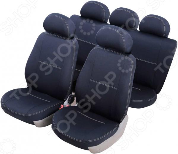 Набор чехлов для сидений Azard Standart Volkswagen Polo 2009 слитный задний ряд набор чехлов для дивана и кресел мартекс с карманами 3 предмета 05 0751 3