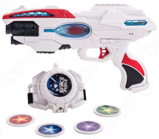 Набор игровой: часы и бластер Fun Red со свето-звуковыми эффектами бластер fun red со звуковыми и световыми эффектами длина 17 см