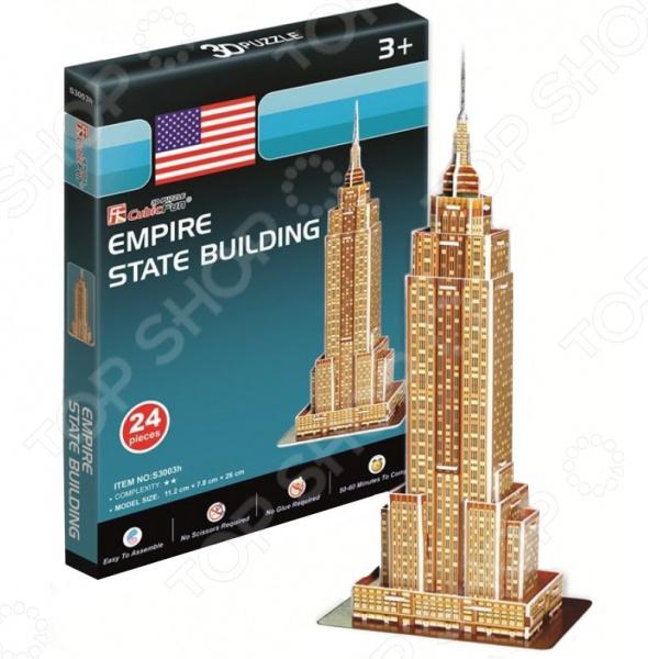 Пазл 3D CubicFun «Эмпайер-стейт-билдинг» (мини серия) пазл 3d cubicfun небоскреб эмпайр стейт билдинг сша 39 элементов c704h