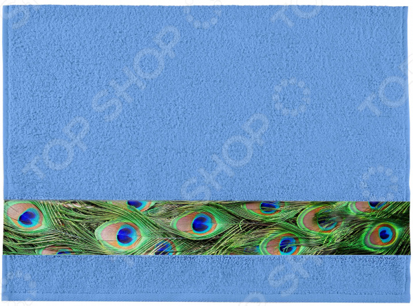 Полотенце махровое Aquarelle «Фотобордюр: Павлин 2»