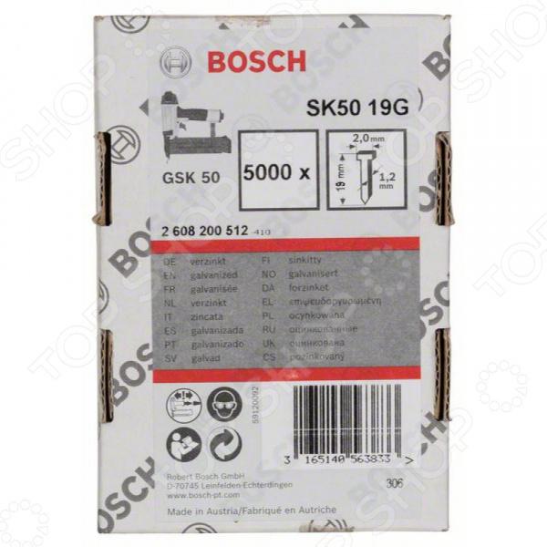 Набор штифтов с потайной головкой Bosch SK50 19G