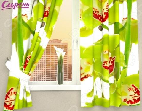 Фотошторы Сирень «Зеленая орхидея»