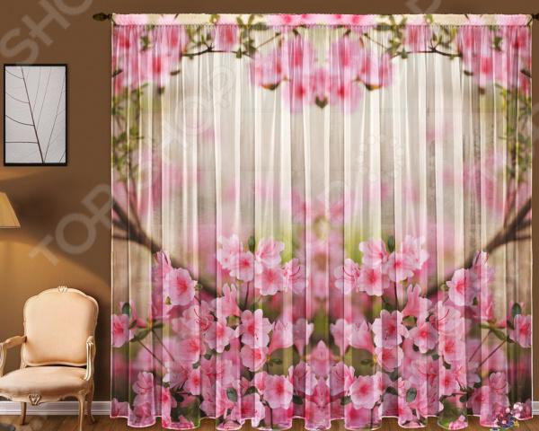 Комплект тюля ТамиТекс «Весенние цветы»