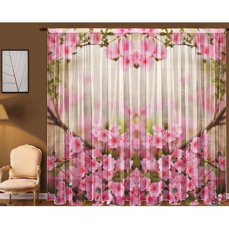 Купить Комплект тюля ТамиТекс «Весенние цветы»
