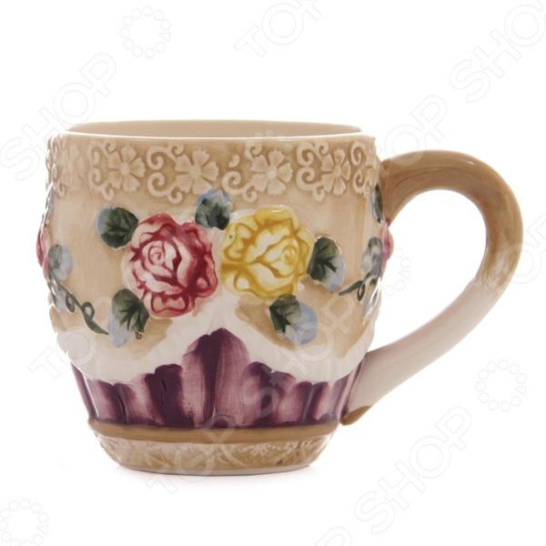 Кружка Mayer&Boch «Прованс: Розы» керамическая посуда