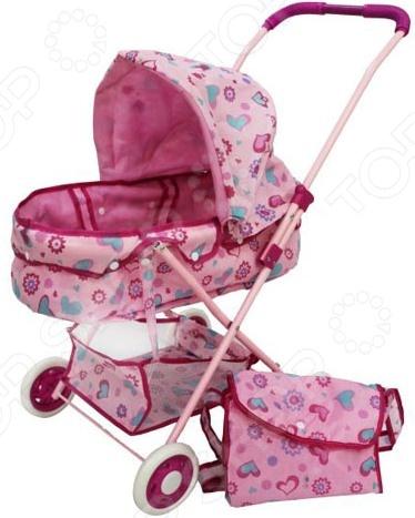 Коляска для пупса Shantou Gepai с корзиной и сумкой прогулочная коляска, которая обязательно понравится вашей маленькой принцессе. С такой прекрасной вещицей девочка почувствует себя мамой любимой куклы. Несомненно, такие игры развивают в ребенке внимательность, заботливость и нежность. Эта замечательная коляска ничем не отличается от настоящих, она имеет комфортабельную и мягкую люльку с навесной крышей, вместительную корзину в нижней части и удобную сумку для размещения всех необходимых личных вещей ее можно повесить на рукоятку . Такая игрушка станет прекрасным подарком для любой девочки. Размер в собранном виде: 36х56х58см.