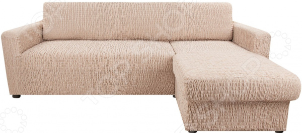 натяжной чехол на угловой диван с выступом слева еврочехол сиена сатурно Натяжной чехол на угловой диван с выступом справа Еврочехол «Сиена Венера»