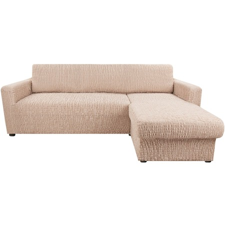 Купить Натяжной чехол на угловой диван с выступом справа Еврочехол «Сиена Венера»