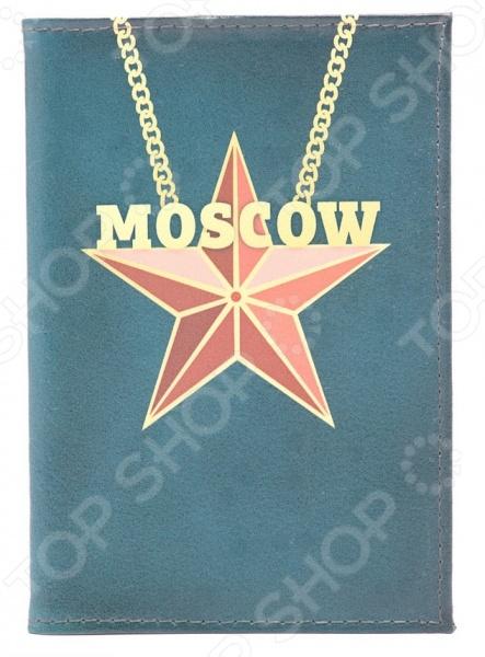 Обложка для автодокументов кожаная Mitya Veselkov «Moscow Star» обложка для автодокументов mitya veselkov moscow star