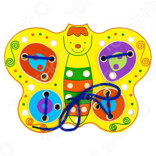 Игрушка развивающая для малыша Alatoys «Шнуровка: Бабочка»