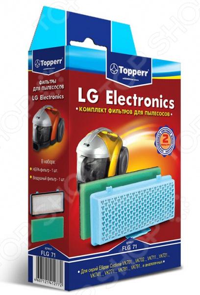 Фильтр для пылесоса Topperr FLG 71 topperr l 30 фильтр для пылесосовlg electronics 4 шт