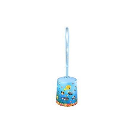 Купить Ёршик для туалета и подставка круглая для детей Violet 1401/79 «Океан»