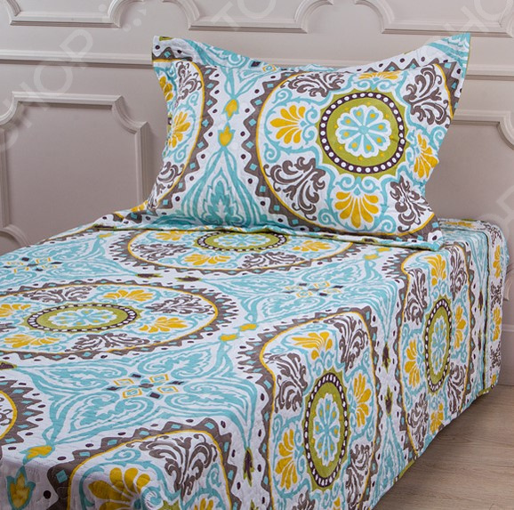 Комплект для спальни: покрывало и наволочка Santalino 806-007 для спальни