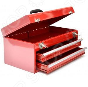 Ящик для инструментов с двумя выдвижными полками FIT 65683