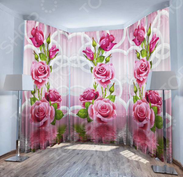 Фототюль ТамиТекс «Душистые розы» фототюль тамитекс изящные розы