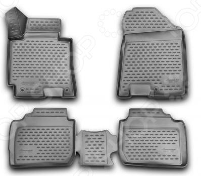 Комплект 3D ковриков в салон автомобиля Novline-Autofamily KIA Cerato 2013 комплект ковриков в салон автомобиля novline autofamily kia cerato koup 2009 цвет черный