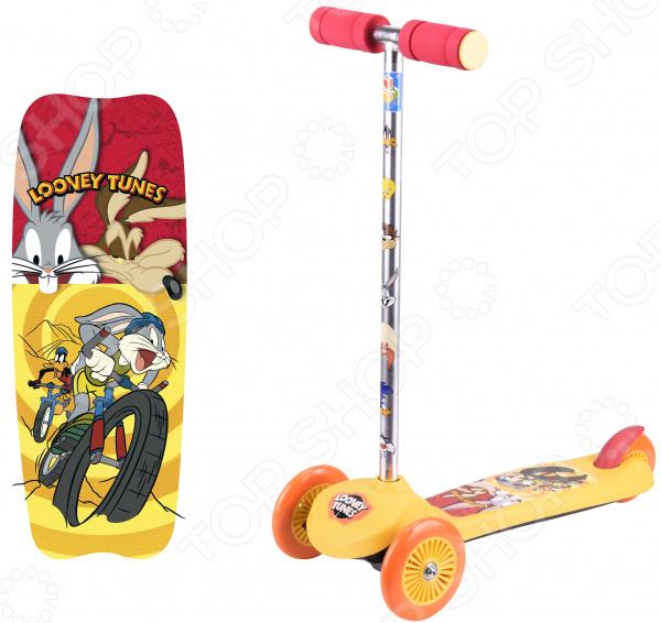 Самокат трехколесный 1 Toy Looney Tunes самокат трехколесный 1 toy т57644 peppa