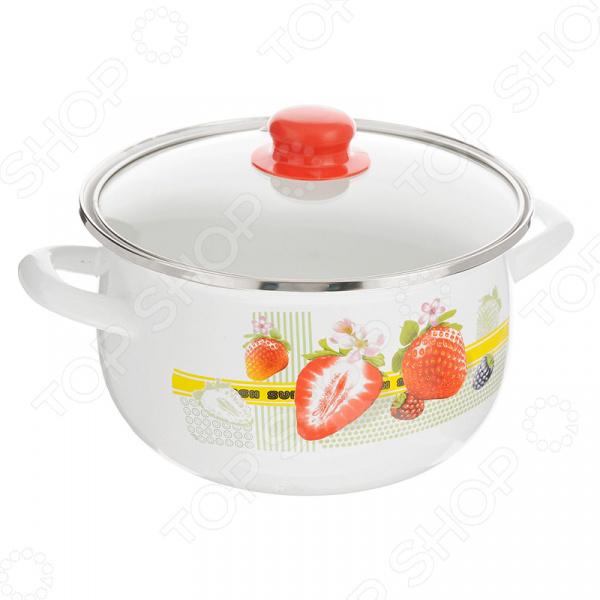 Кастрюля с крышкой Mayer&Boch «Ягоды» посуда кухонная