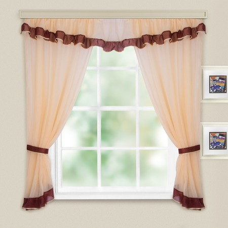 Купить Комплект легких штор WITERRA «Акцент». Цвет: шоколад