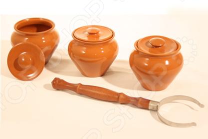 Фото - Набор банок Вятская керамика ВК-1/3 набор керамических горшков 3 предмета вятская керамика нбр вк 3т