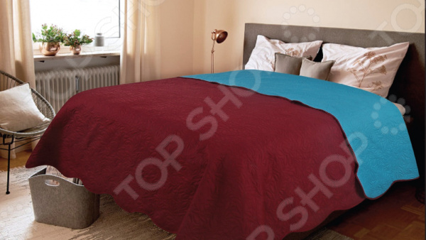 Покрывало Amore Mio Alba. Цвет: бордовый покрывало amore mio покрывало alba цвет бежевый коричневый 200х220 см
