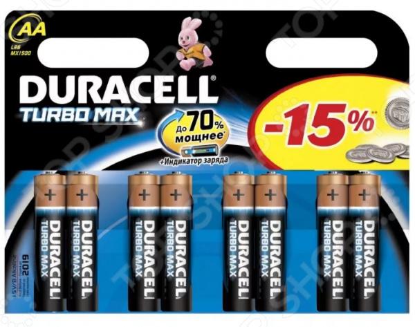 Набор батареек Duracell Turbo LR6-8BL батарейка duracell turbo max lr6 8bl 8 шт aa