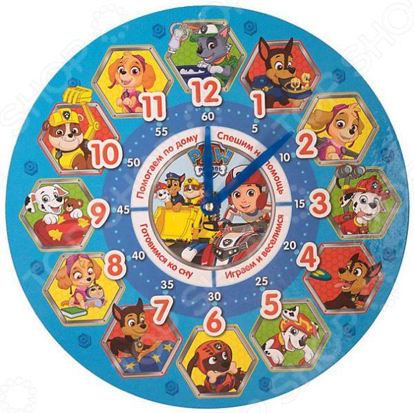 Часы обучающие Paw Patrol 35033 игровой набор paw patrol два щенка в домике 16660 mar