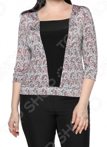 Туника Jenks «Добрый взгляд». Цвет: белый, розовый блуза jenks счастливое настроение цвет фиолетовый