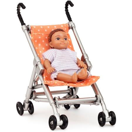 Купить Комплект аксессуаров для кукольного домика Lundby «Коляска с пупсом»