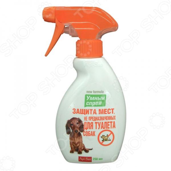 Спрей для коррекции поведения собак Api-San «Умный спрей. Защита мест, не предназначенных для туалета» лайна мс спрей для удаления меток и запахов домаш животных пихта 0 75л