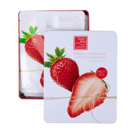 Купить Маска для тусклой кожи лица Beauty Style Fruit Silk «Сияние и тонус» с клубникой