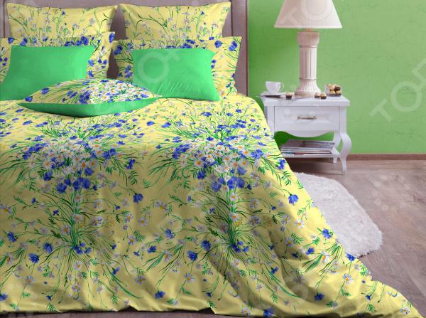 Zakazat.ru: Комплект постельного белья Хлопковый Край «Есения». Цвет: желтый. 2-спальный