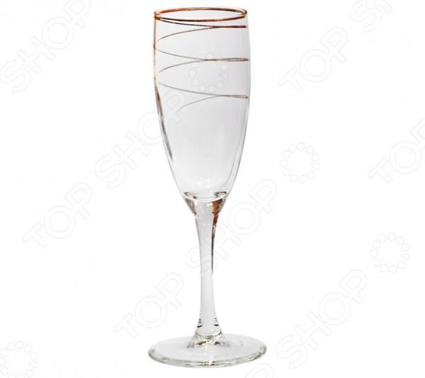Набор бокалов для шампанского Гусь Хрустальный «Змейка» набор бокалов для бренди гусь хрустальный эдем каскад