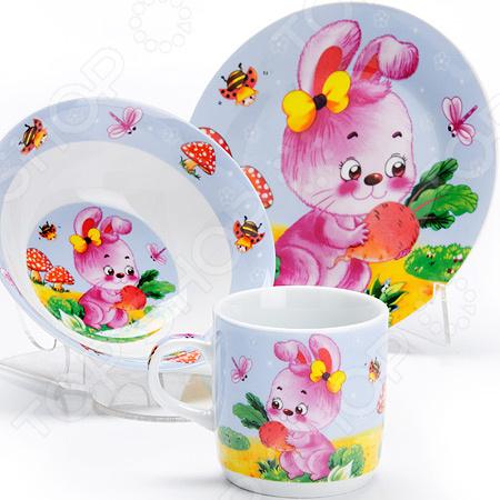 Набор посуды для детей «Зайка» LR-27327