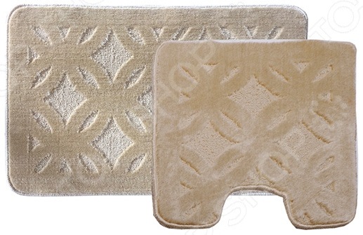 Комплект ковриков для ванной и туалета Dasch «Квадро» коврик круглый для ванной dasch орнелла