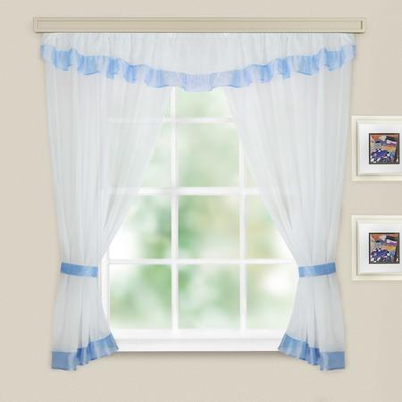 Комплект легких штор WITERRA «Акцент». Цвет: белый, голубой